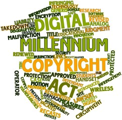 Word cloud for Digital Millennium Copyright Act