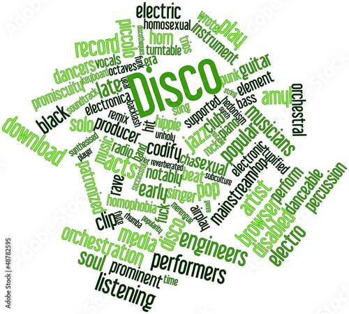 Word cloud for Disco