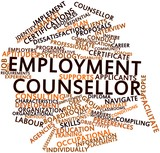 Word cloud for Employment counsellor