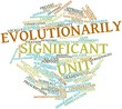 Word cloud for Evolutionarily Significant Unit