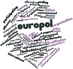 Word cloud for Europol