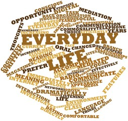 Word cloud for Everyday life