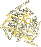 Word cloud for FAQ