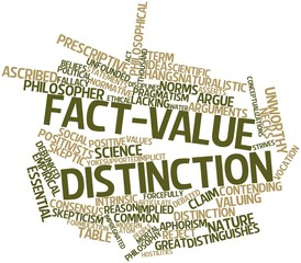 Word cloud for Fact-value distinction