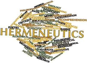Word cloud for Hermeneutics