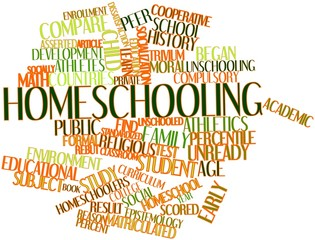 Word cloud for Homeschooling