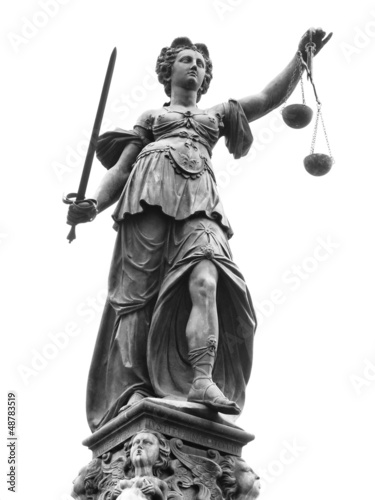 Leinwanddruck Bild Statue of Lady Justice (Justitia)
