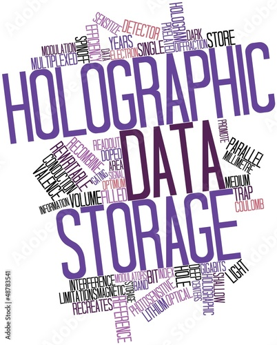 Word cloud for Holographic data storage