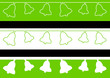 3 Frises cloches - couleur herbe - Pâques