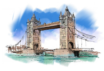 the London Tower Bridge