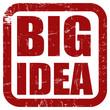Grunge Stempel rot quad BIG IDEA