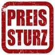 Grunge Stempel rot quad PREISSTURZ