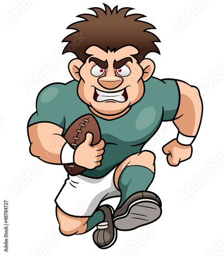 illustration of Cartoon Rugby player