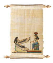 Scroll with Egyptian papyrus