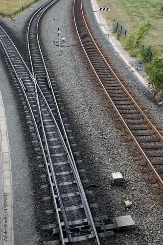 Normalschienen und Schienen einer Schmalspurbahn