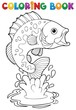 Coloring book freshwater fishes 2