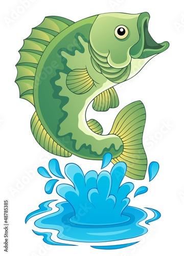 Freshwater fish theme image 6