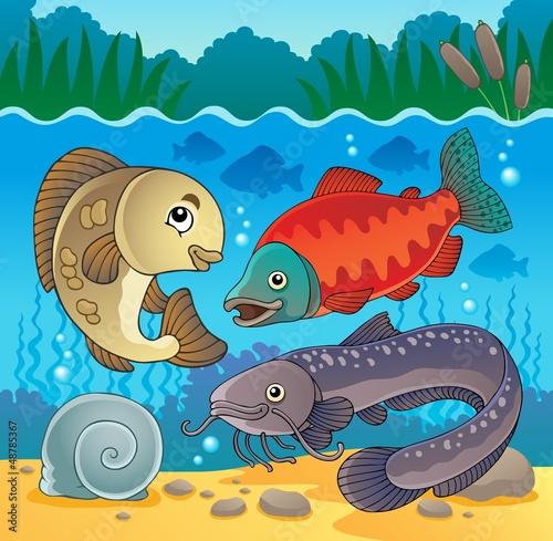 Freshwater fish theme image 5