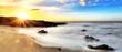 Crépuscule sur la plage de Cap Champagne, La Réunion.