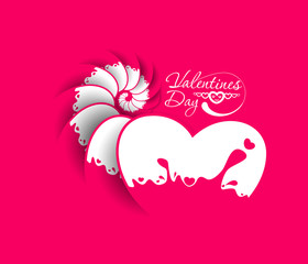 valentine's day heart, vector illustration.
