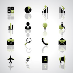 Finance and business icons set