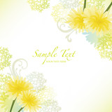 Fototapety spring background with dandelion