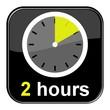 Glossy Button schwarz - 2 hours