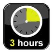 Glossy Button schwarz - 3 hours