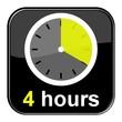 Glossy Button schwarz - 4 hours