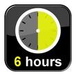 Glossy Button schwarz - 6 hours