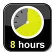 Glossy Button schwarz - 8 hours