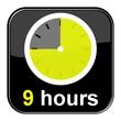 Glossy Button schwarz - 9 hours