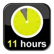 Glossy Button schwarz - 11 hours