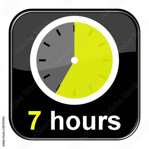 Glossy Button schwarz - 7 hours