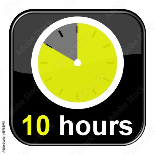 Glossy Button schwarz - 10 hours