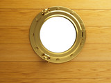 porthole gold wood
