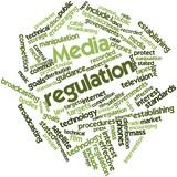 Word cloud for Media regulation poster