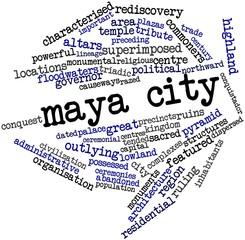 Word cloud for Maya city