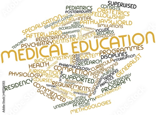 Leinwandbild Motiv Word cloud for Medical education