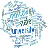 Word cloud for Moscow State University