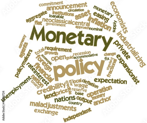 Word cloud for Monetary policy