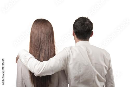 couple turned back