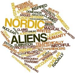 Word cloud for Nordic aliens