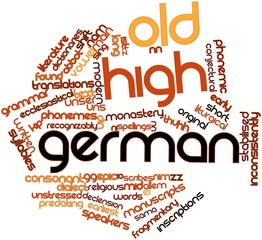 Word cloud for Old High German