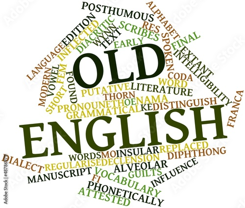 Word cloud for Old English