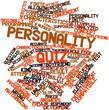 Постер, плакат: Word cloud for Personality quiz