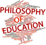 Word cloud for Philosophy of education poster