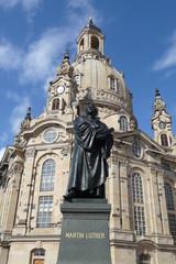 Luther Denkmal an der Frauenkirche, Dresden