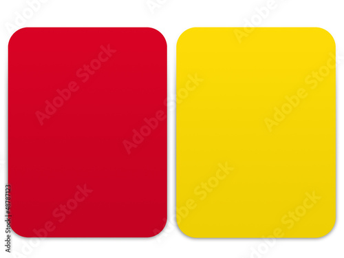 Soccer - yellow card and red card