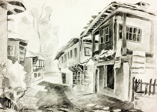 Bulgarian village street - 48787185